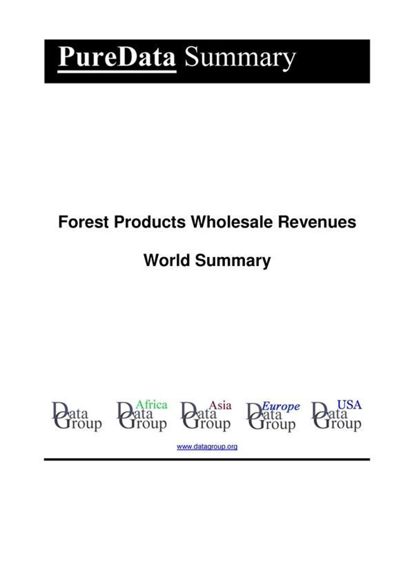Forest Products Wholesale Revenues World Summary