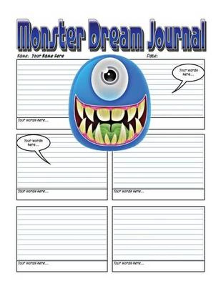 Monster Dream Journal - Secure Your Secrets with a 200 Page Monster Dream Journal