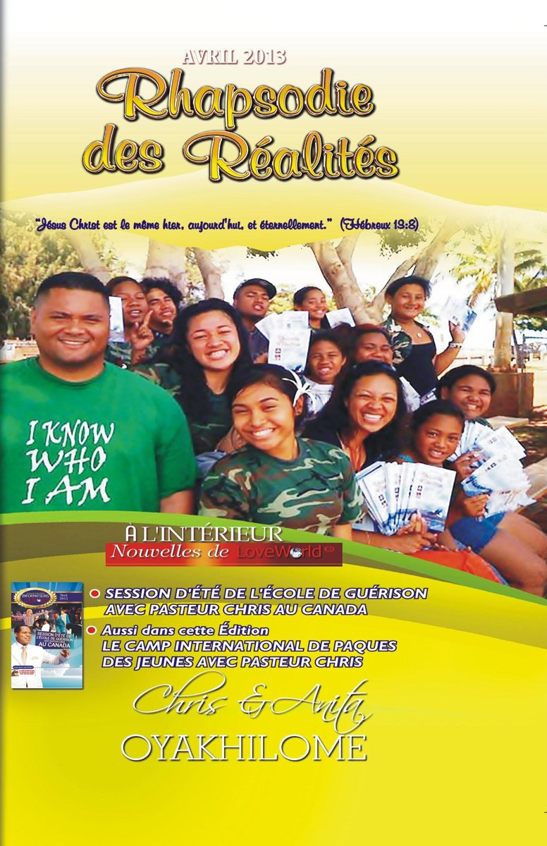 Rhapsody of Realities April 2013 French Edition