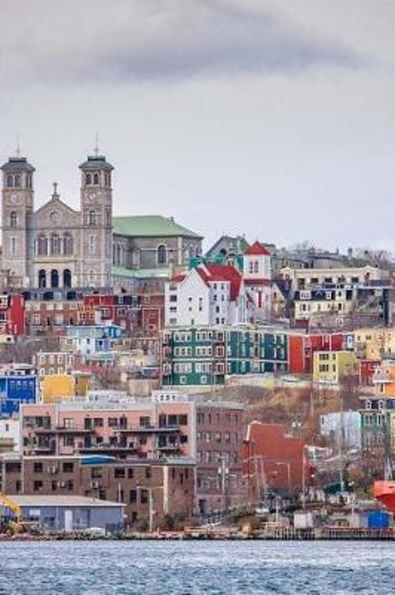 View from the Harbor at Colorful St. John's in Newfoundland Canada Journal