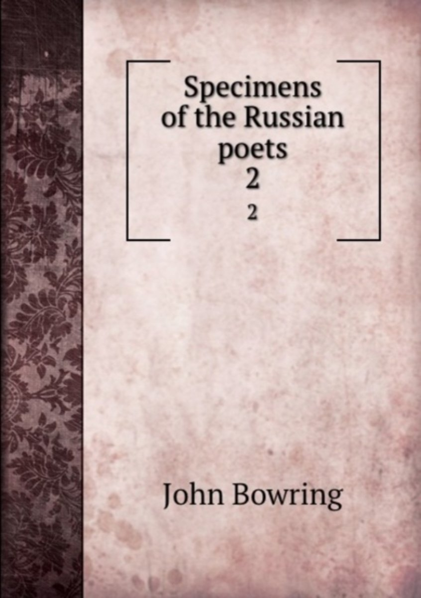 Specimens of the Russian Poets
