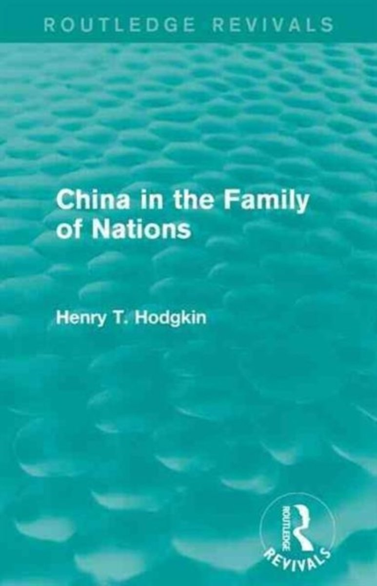 China in the Family of Nations
