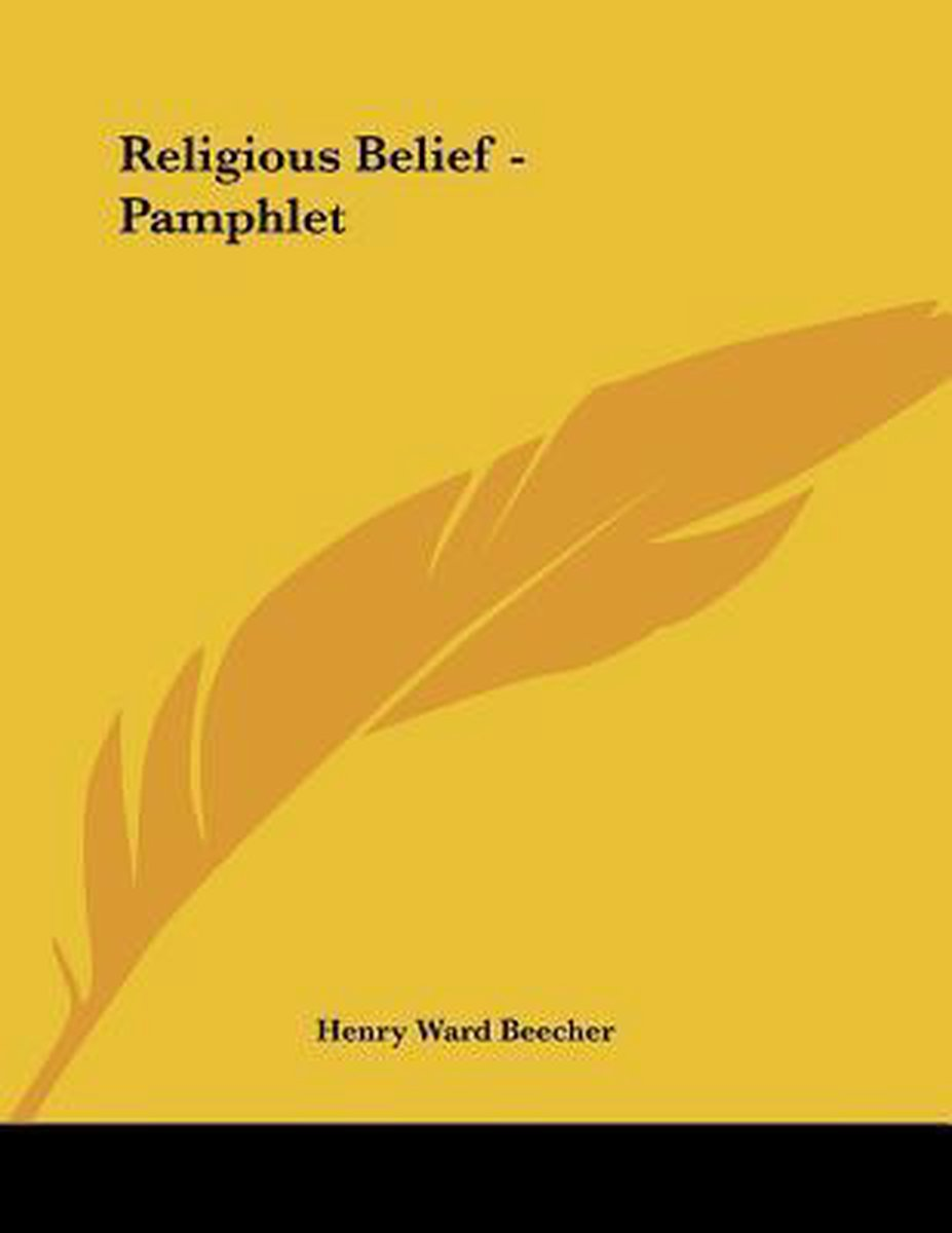 Religious Belief - Pamphlet