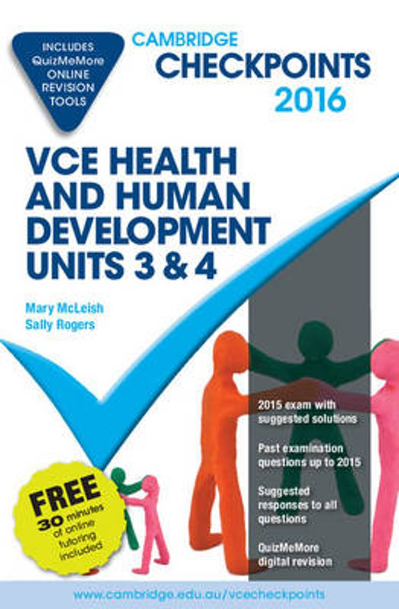 Cambridge Checkpoints VCE Health and Human Development Units 3 and 4 2016 and Quiz Me More