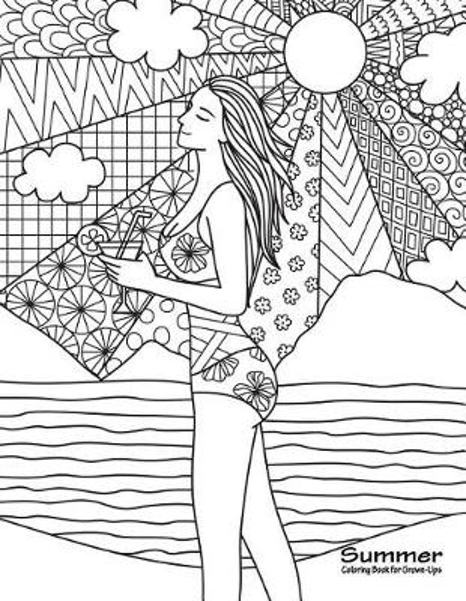 Summer Coloring Book for Grown-Ups 1