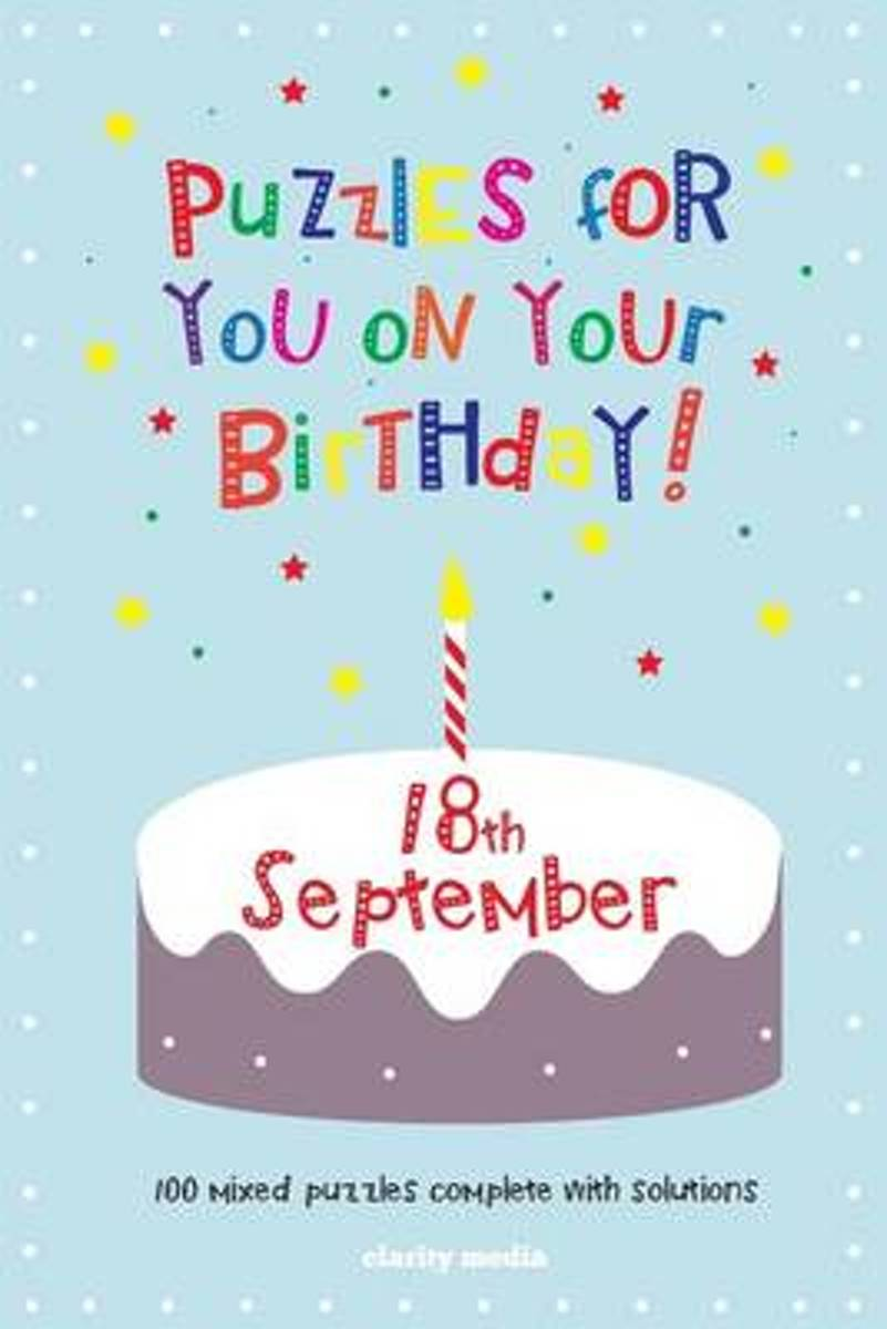 Puzzles for You on Your Birthday - 18th September
