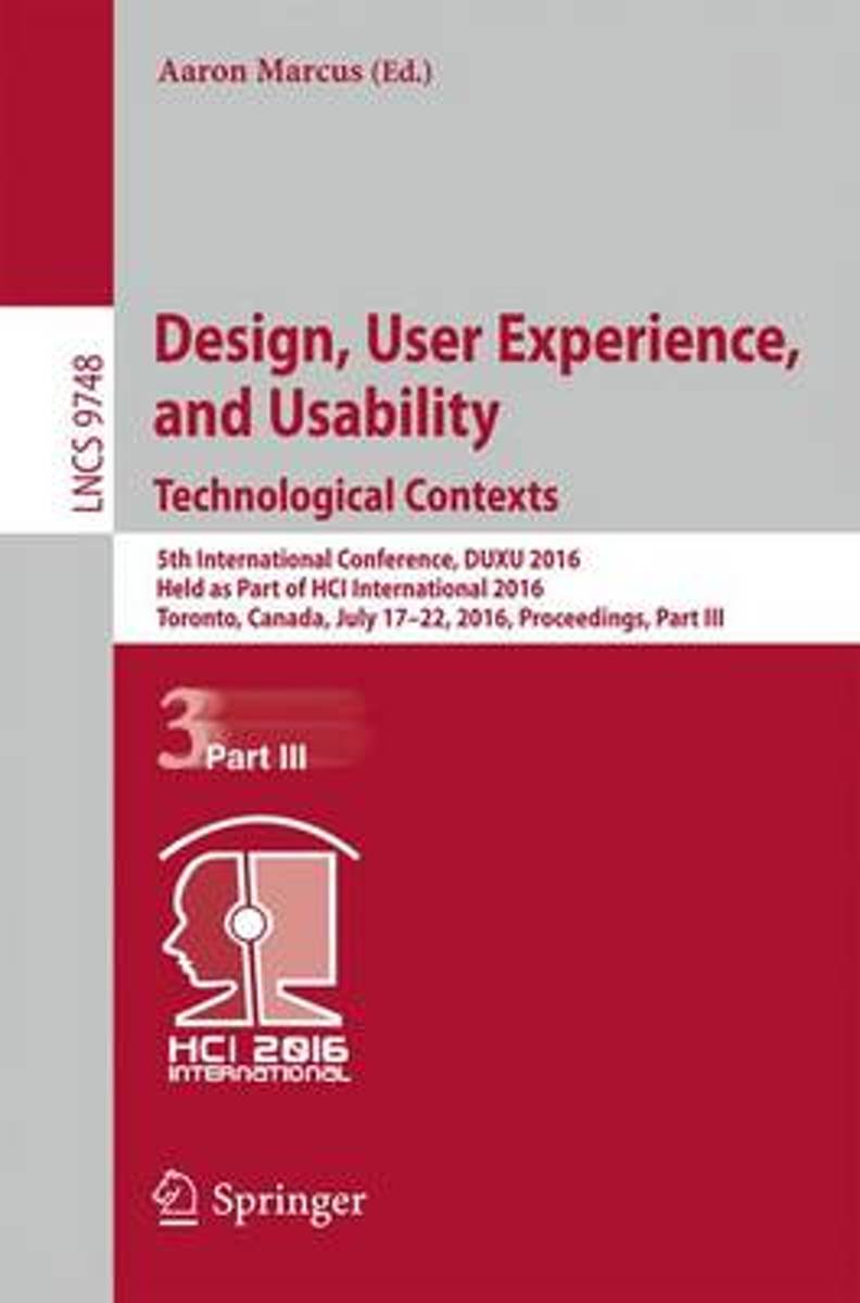 Design, User Experience, and Usability