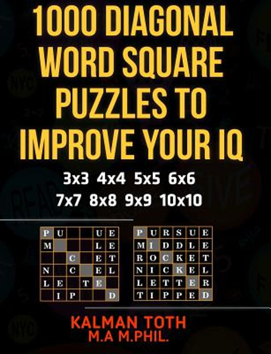 1000 Diagonal Word Square Puzzles to Improve Your IQ