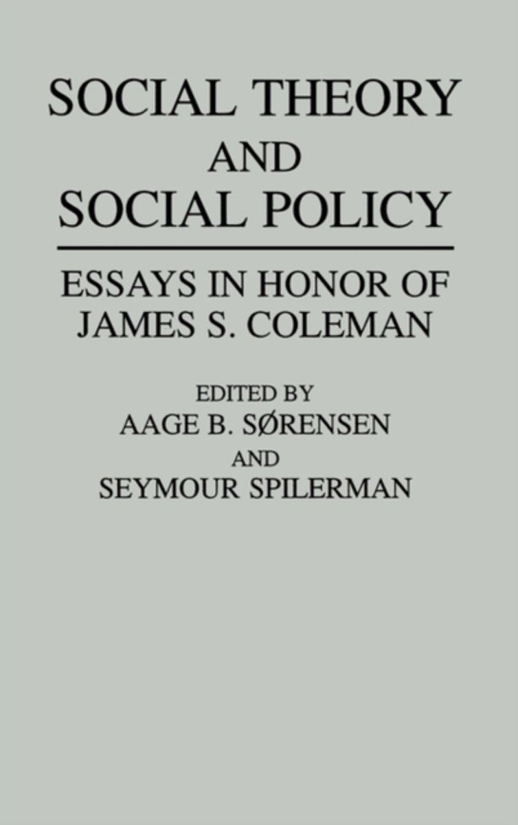 Social Theory and Social Policy
