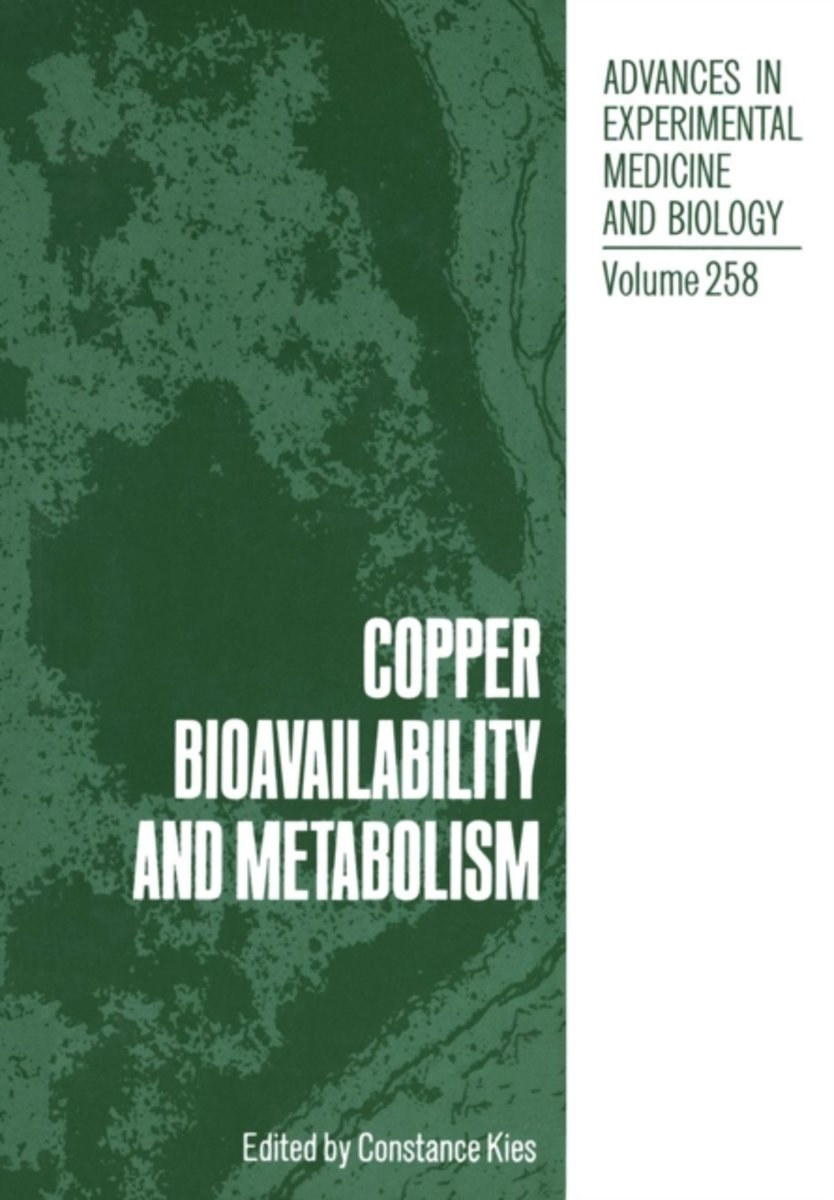 Copper Bioavailability and Metabolism