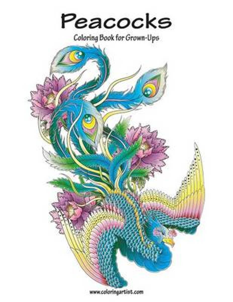 Peacocks Coloring Book for Grown-Ups 1