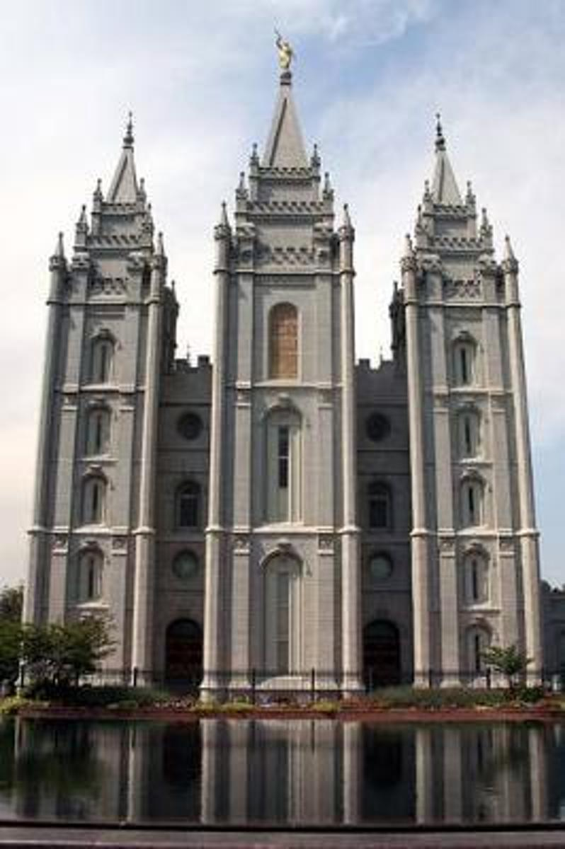 Mormon Temple in the Daytime in Salt Lake City Utah Journal