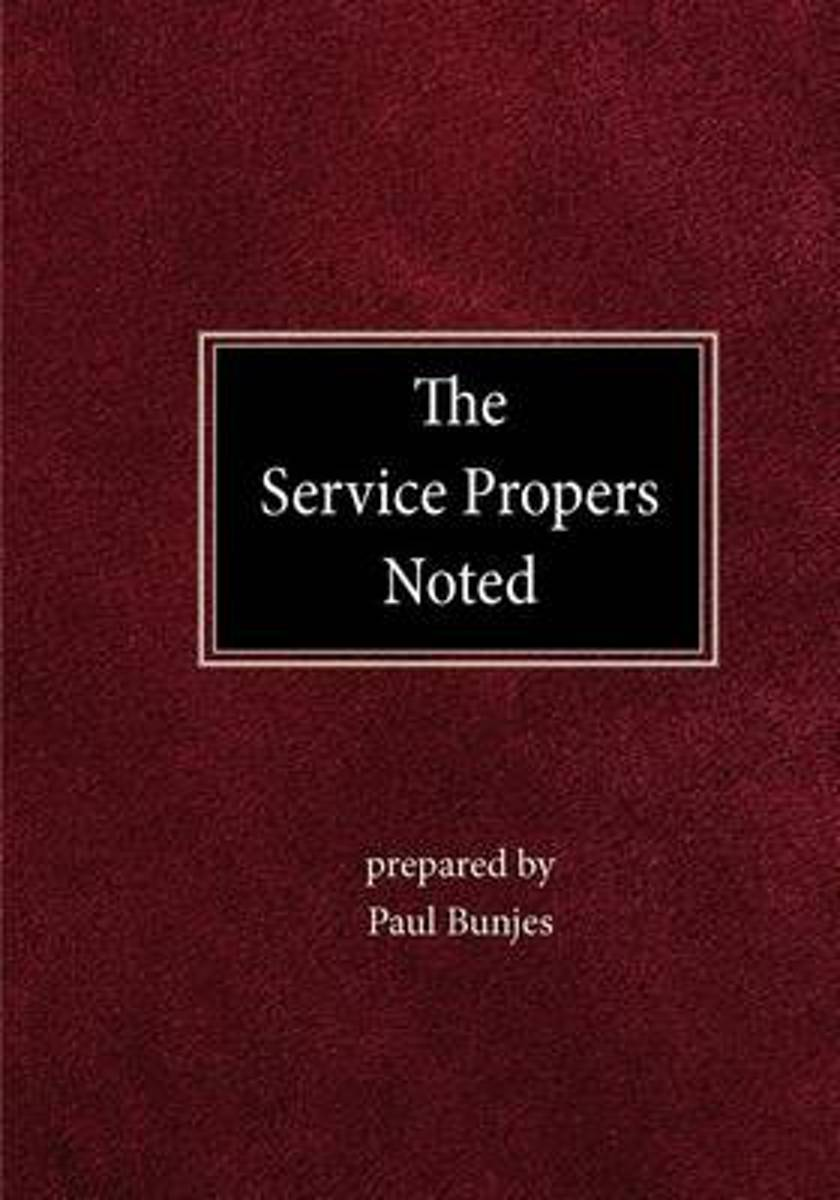 The Service Propers Noted