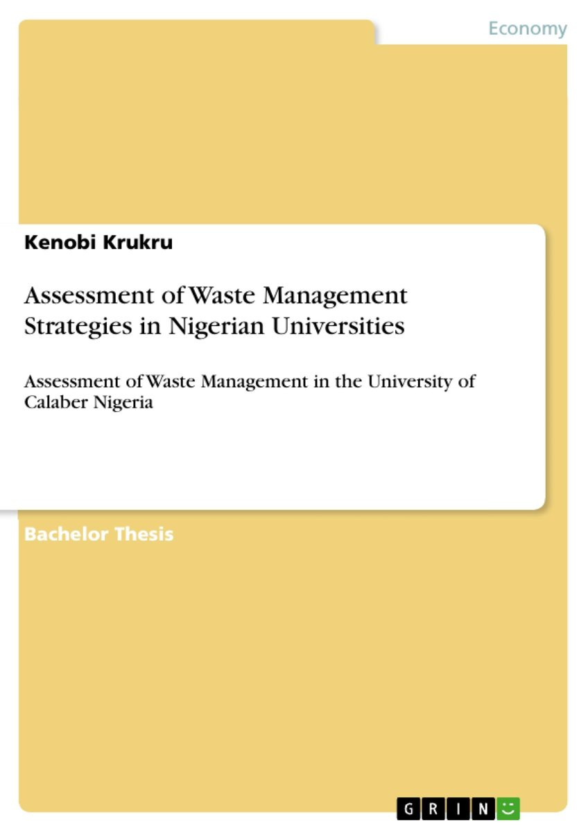Assessment of Waste Management Strategies in Nigerian Universities