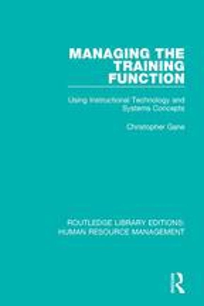 Managing the Training Function