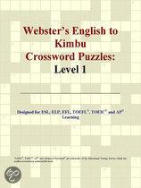 Webster's English to Kimbu Crossword Puzzles