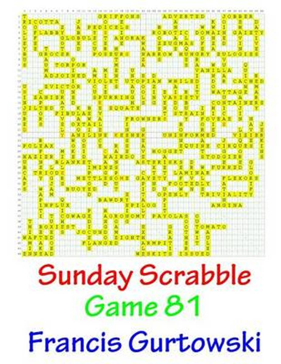 Sunday Scrabble Game 81