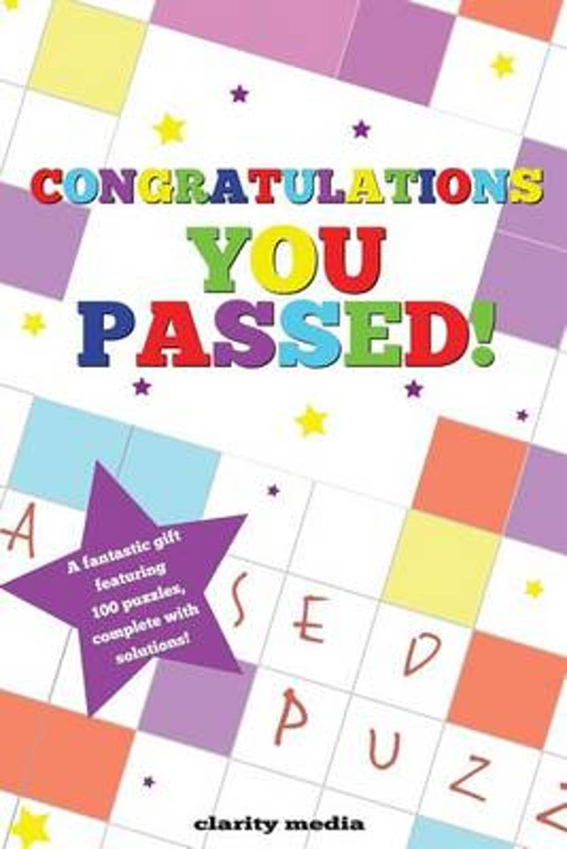 Congratulations You Passed Puzzle Book