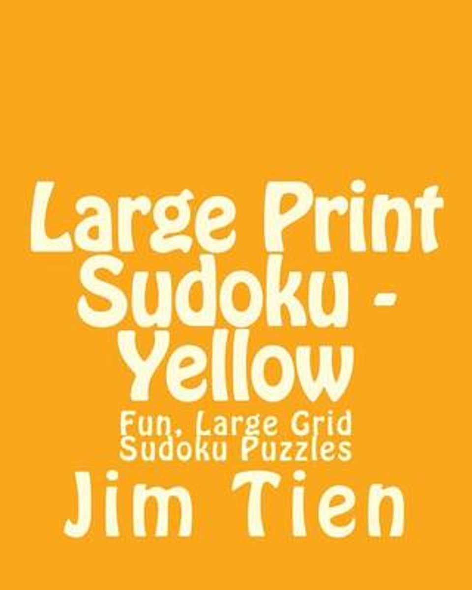 Large Print Sudoku - Yellow