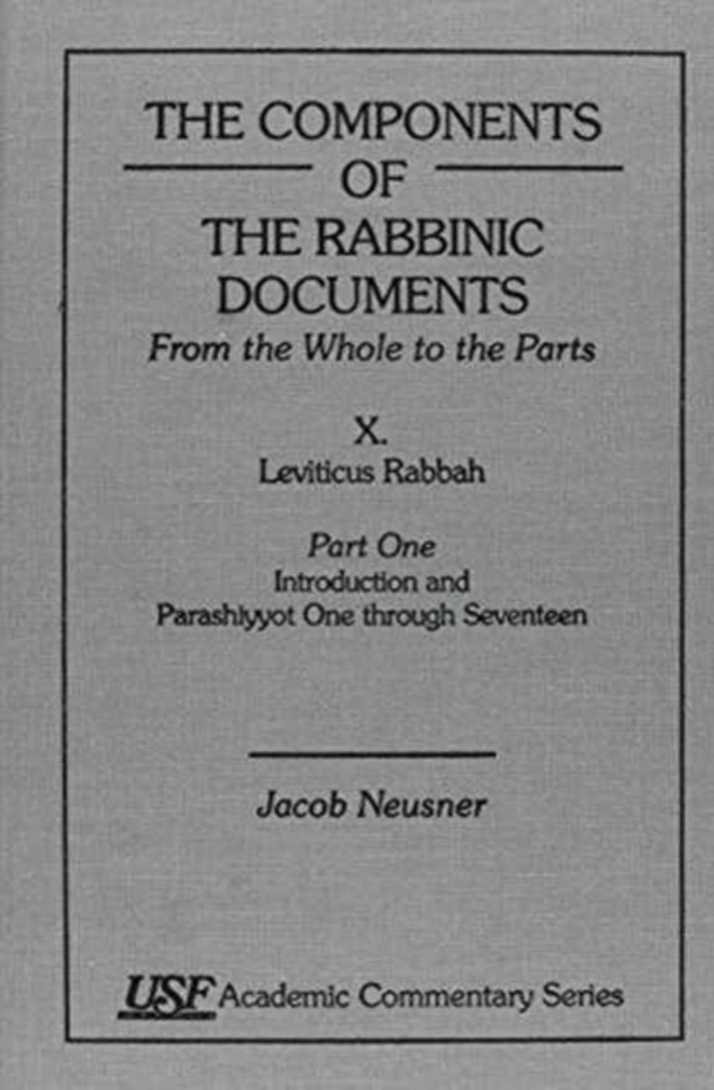 The Components of the Rabbinic Documents
