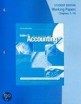 Century 21 Accounting Working Papers Chapters 1-16