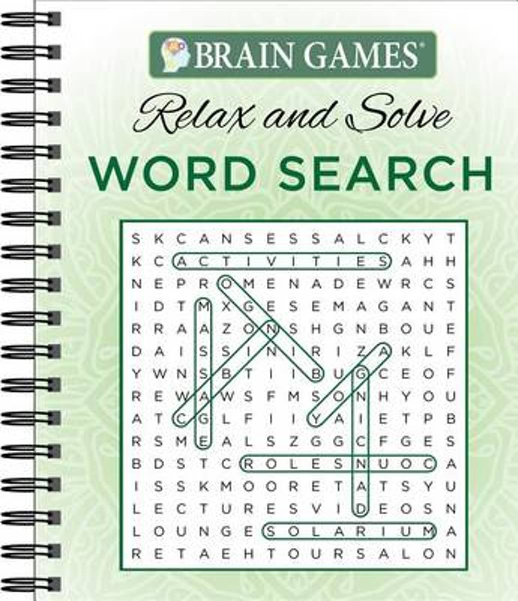 Brain Games Relax N Solve Word Searches