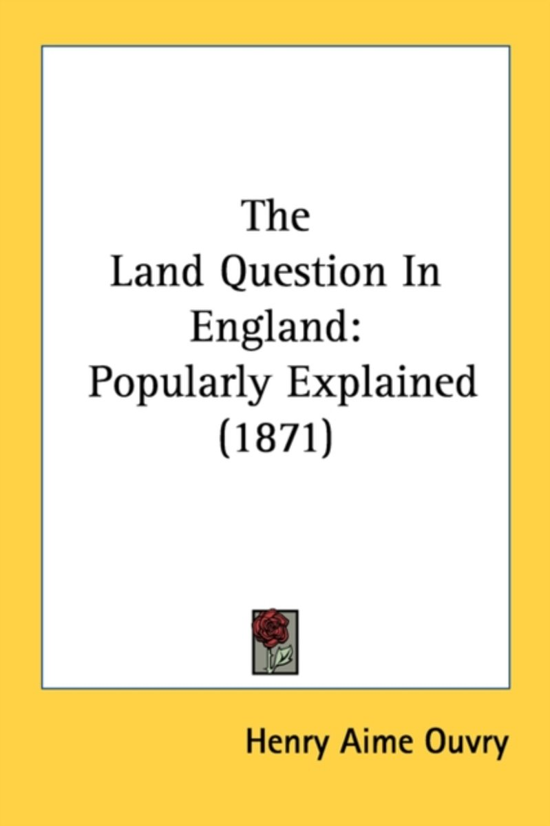 The Land Question In England