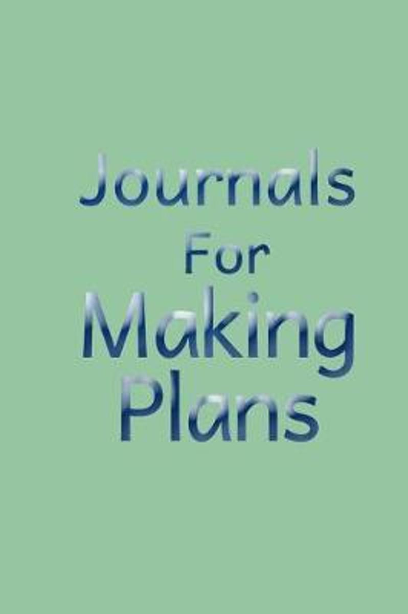 Journals for Making Plans