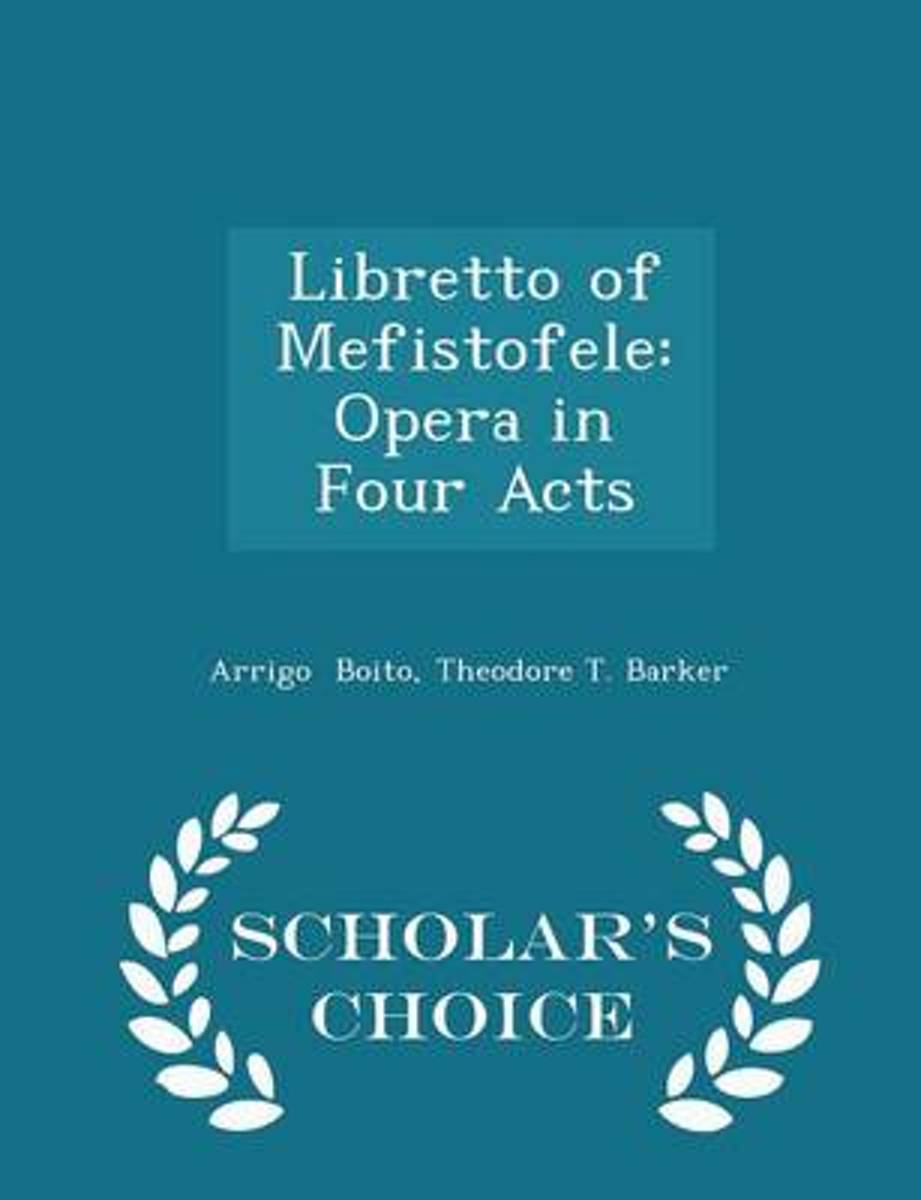 Libretto of Mefistofele