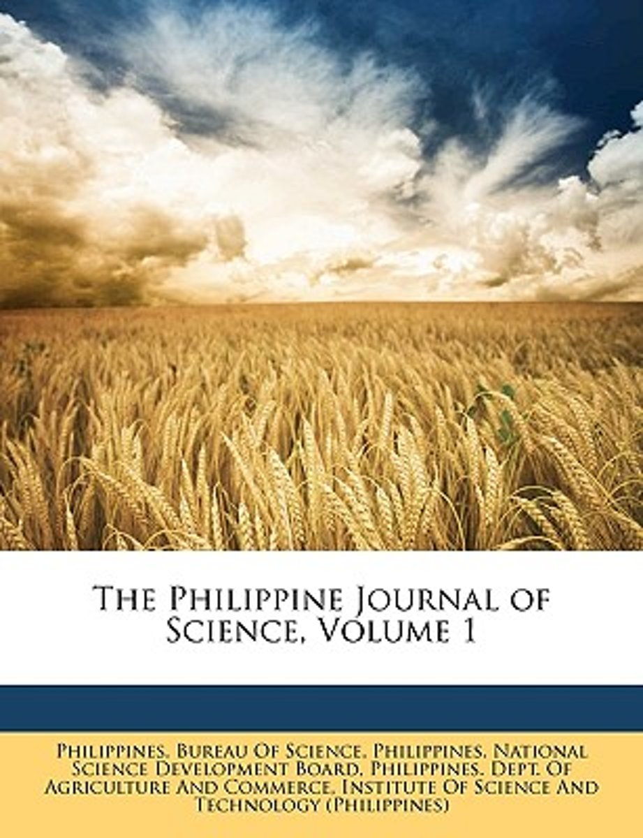 the Philippine Journal of Science, Volume 1